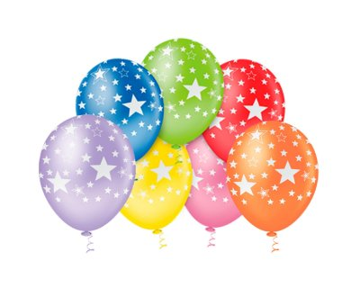 Balões Estampado N 10 - Estrelinhas Coloridas- 25 und- Pic Pic