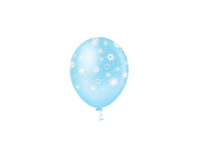 Balões Estampado N 10 - Floco de Neve 25 und- Pic Pic
