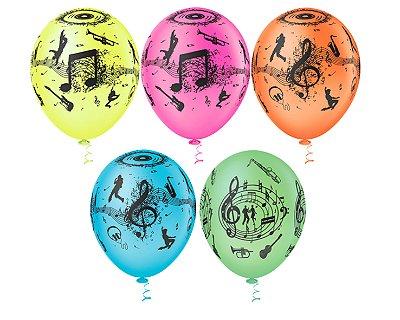 Balões Estampado N 10 - Balada Neon 50 und- Pic Pic