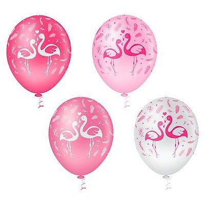 Balões Estampado N 10 - Flamingo- 25 und- Pic Pic