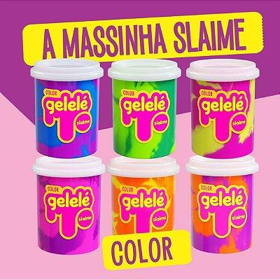 Slime Gelele Color 152g  Com Cheiro De Fruta - 24 Unidades