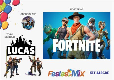 Kit Personalizado Alegre - Fortnite