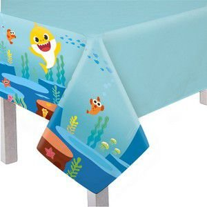 Toalha De Mesa Principal Plástica -  Baby Shark