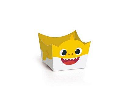Porta Forminha - Baby Shark Amarelo - 24 Unidades