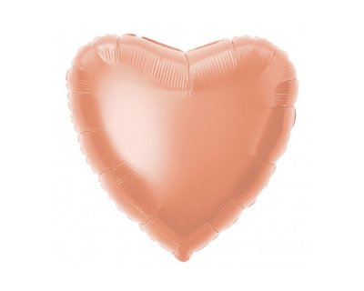Balão Metalizado - Coração Rose Gold 45cm