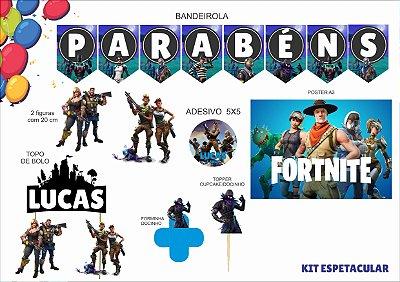 Kit Espetacular- Fortnite - 7 itens
