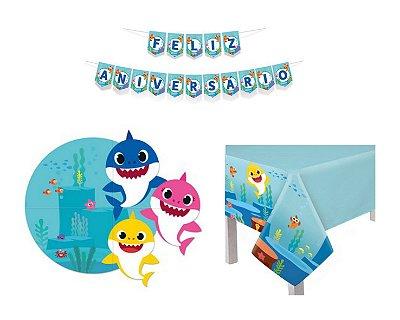 Kit Decoração de Festa - Baby Shark