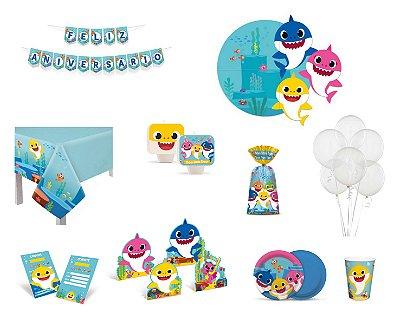 Kit Festa Completo Baby Shark - 24 Pessoas
