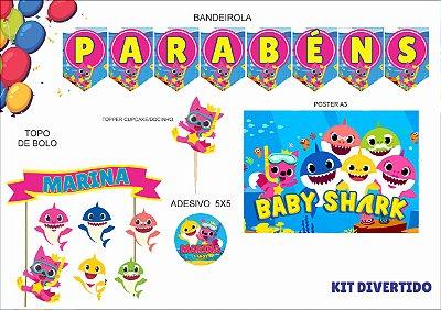 Kit Divertido - Baby Shark - 5 itens