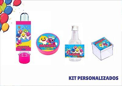 kit personalizado - baby shark - 40 itens