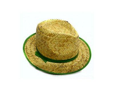 Chapéu de Palha Verde - Infantil