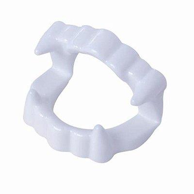 Dentadura de Vampiro Plástico com 12 unidades