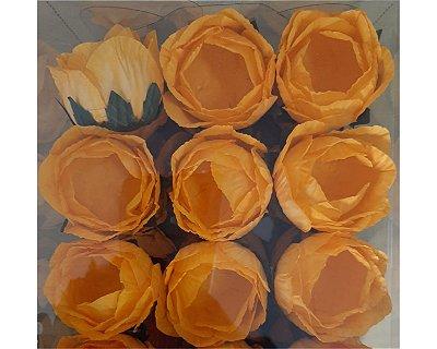 Forminha para Doces Flor - Charlote - Amarela - 24 Unidades