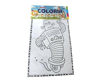 Livro de colorir - 8 desenhos + Giz de Cera