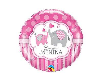 Balão Metalizado  - É menina - 18 Polegadas