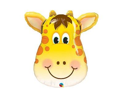 Balão Metalizado - Girafa  Safari - 14 Polegadas