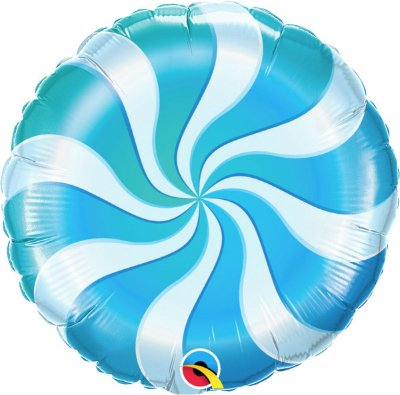 Balão Metalizado  - Bala Espiral Azul  - 18 Polegadas