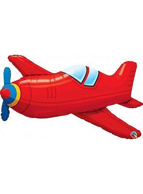 Balão Metalizado Shape - Avião  - 36 Polegadas