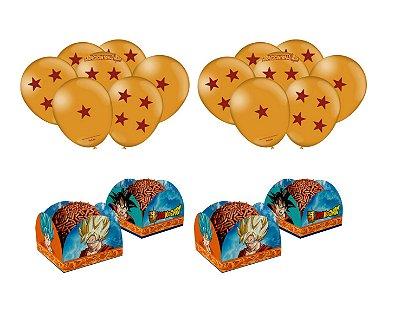 Kit Decoração Festa - Dragon Bal -  Balões + Forminhas Doce