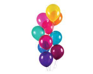 Balão Latéx - Cristal Cores sortidas - 24 Unidades