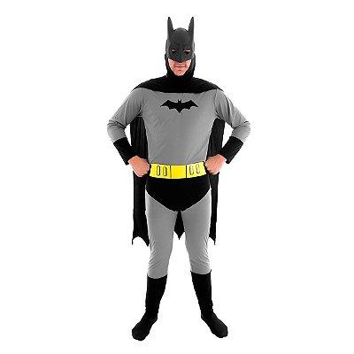 Fantasia  Batman Simples  - Adulto - Tamanho G