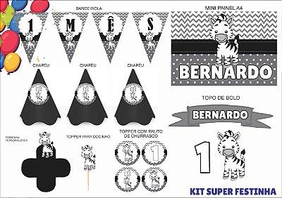 Kit Mensário - Zebra - 7 itens