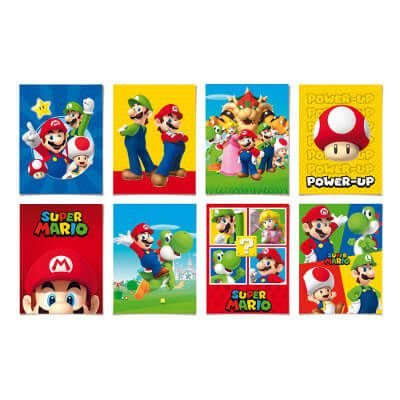 Cartaz Decorativo - Mario Bros - 08 unidades