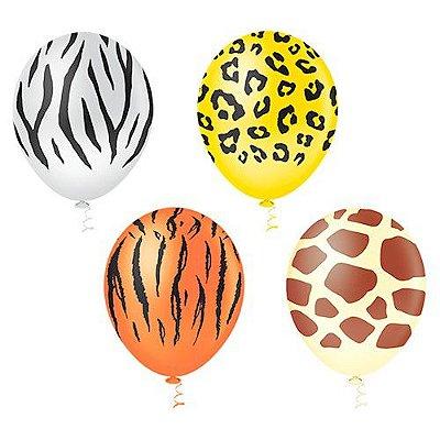 Balões Estampado N 10 - Safari - 25 und- Pic Pic