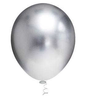 Balões Cromado Latex N 10 -Prata- 25 und- Pic Pic