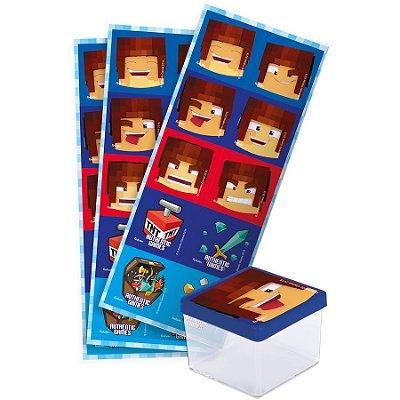 Adesivo Quadrado - Authentic Games - 30 unidades