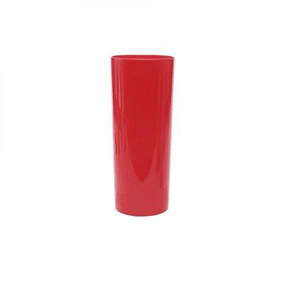 Copo Acrílico Long Dring - 320ml -  Vermelho