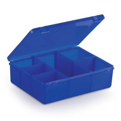 Caixa Organizadora para Guloseimas - 6 divisórias - Azul