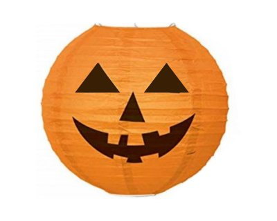Lanterna de Papel Halloween - Abóbora