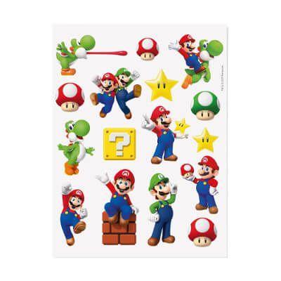 Tatuagem para Pele Mario Bros - 4 cartelas