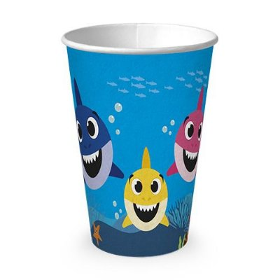 Copo Papel - Family Shark - 330ml- 16 unidades