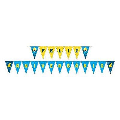 Faixa Feliz Aniversário - Family Shark