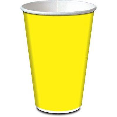 Copo de Papel Amarelo - Live Colors - 08 unidades - 330ml