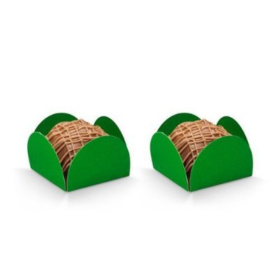 Porta Forminha 4 Pétalas - Verde Bandeira- 50 Unidades