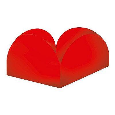 Porta Forminha 4 Pétalas Live Colors - Vermelho - 40 Unidades