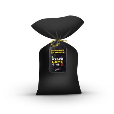 Sacola Surpresa Plástica com tag - Vídeo Game - 08 unidades