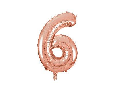 Balão Metalizados Rose Gold 70cm - Nº6