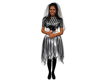 Fantasia Halloween Adulto - Noiva Cadáver- Tamanho G