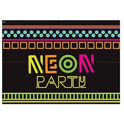 Painel 4 Partes - Festa Neon