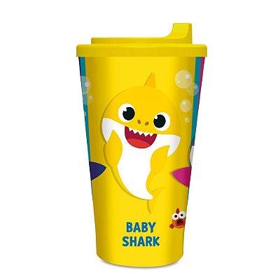 Copo Plástico com tampa - Baby Shark - 300ml