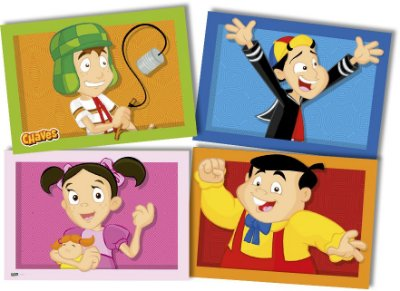 Painel 4 Folhas - Turma dos Chaves