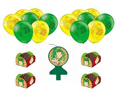 Kit Festa 1 - Chaves - Vela + 25 Balões + 40 Forminhas Doces