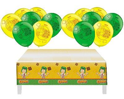 Kit Decoração - Chaves - Toalha De Mesa + 25 Balões