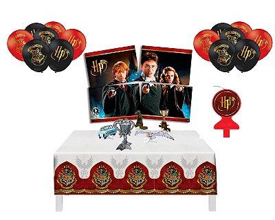 Kit Decoração - Festa Harry Potter - Balões Vela Display Mesa Painel Toalha