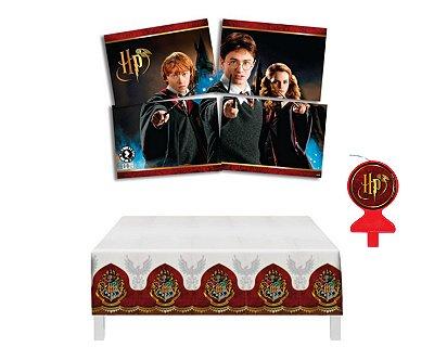 Kit Decoração - Harry Potter - Painel Toalha Mesa Vela