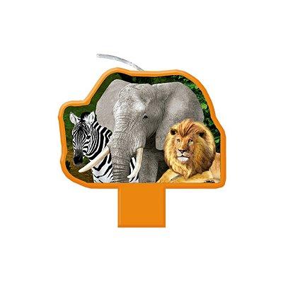 Vela de aniversário Plana - Mundo Animal